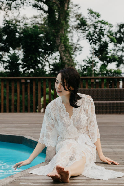 This Day Forward Lace Maxi Robe (White)