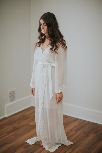 Oh So Divine Silk Chiffon Robe