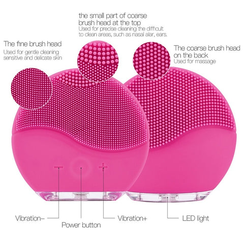 Facial cleansing brush how to use and diagram