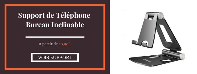 support téléphone inclinable