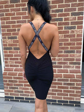 Load image into Gallery viewer, Black Label Plunge Cross Backless Dress