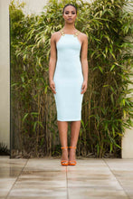 Load image into Gallery viewer, High Neck Beaded Straps Bodycon Dress