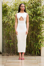 Load image into Gallery viewer, Full Length Under Cutout Bodycon Dress