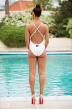 Load image into Gallery viewer, V Neck Backless Beaded Cross Over Poolside