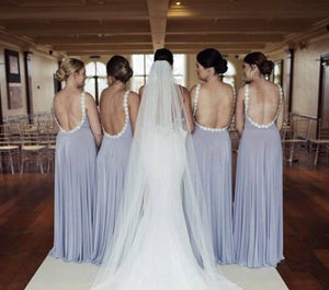 Backless Beaded All Around Bridesmaid Dress