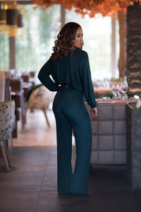 Long Sleeved Cowls Neck Jumpsuit