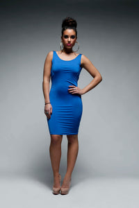Narrow Strapped Backless Bodycon Dress