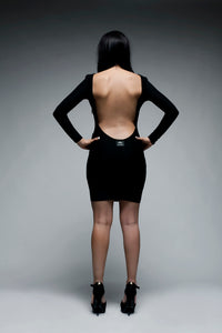 Long Sleeved Backless Bodycon Dress