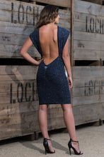 Load image into Gallery viewer, Backless Drape Dress Front