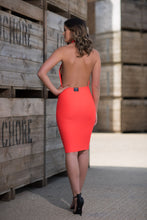 Load image into Gallery viewer, Backless Halterneck Dress Back