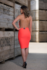 Backless Halterneck Dress Back