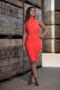 Backless Halterneck Dress Front