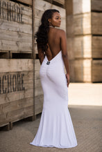Load image into Gallery viewer, Backless Halterneck Fishtail Dress Back