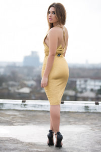 Cross Over Bodycon Dress