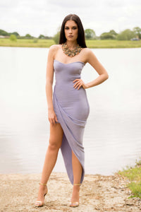 Strapless Sweetheart Drape Dress
