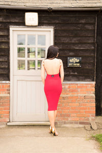 Backless Beaded with Sides Dress