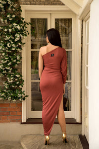 Asymmetric High Split Dress