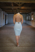 Load image into Gallery viewer, Backless Diamante Chain Dress