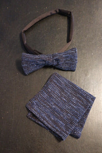 Mens Matching Bowtie and Handkerchief