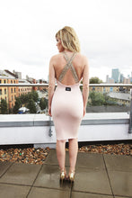 Load image into Gallery viewer, Plunge Cross Back Beaded Dress