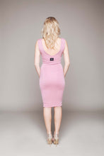Load image into Gallery viewer, V Neck Cutaway Bottom Bodycon Dress