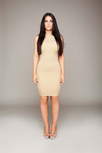 High Roundneck Bodycon Dress