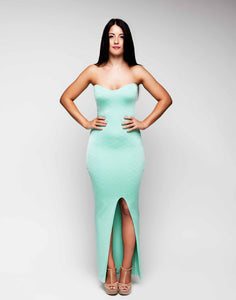 Full Length Strapless Sweetheart Bodycon Dress