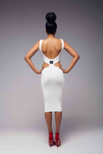 Load image into Gallery viewer, V Neck Bodycon Skirt Dress