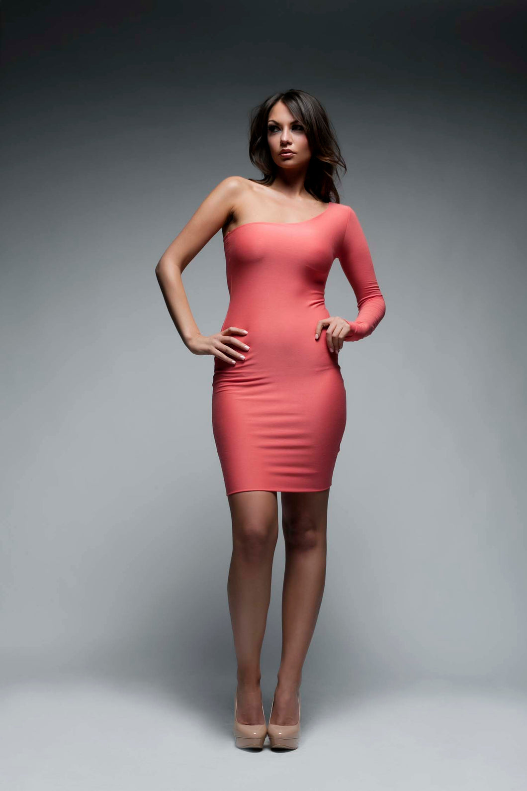One Sleeved Bodycon Dress