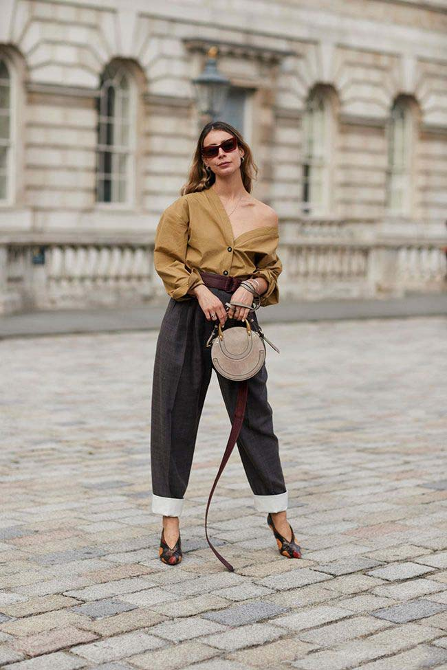 Sac Rond outfit glamour