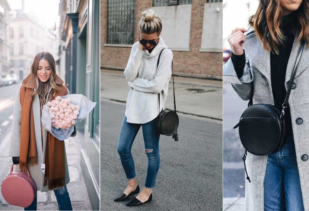 Outfit femme sac rond