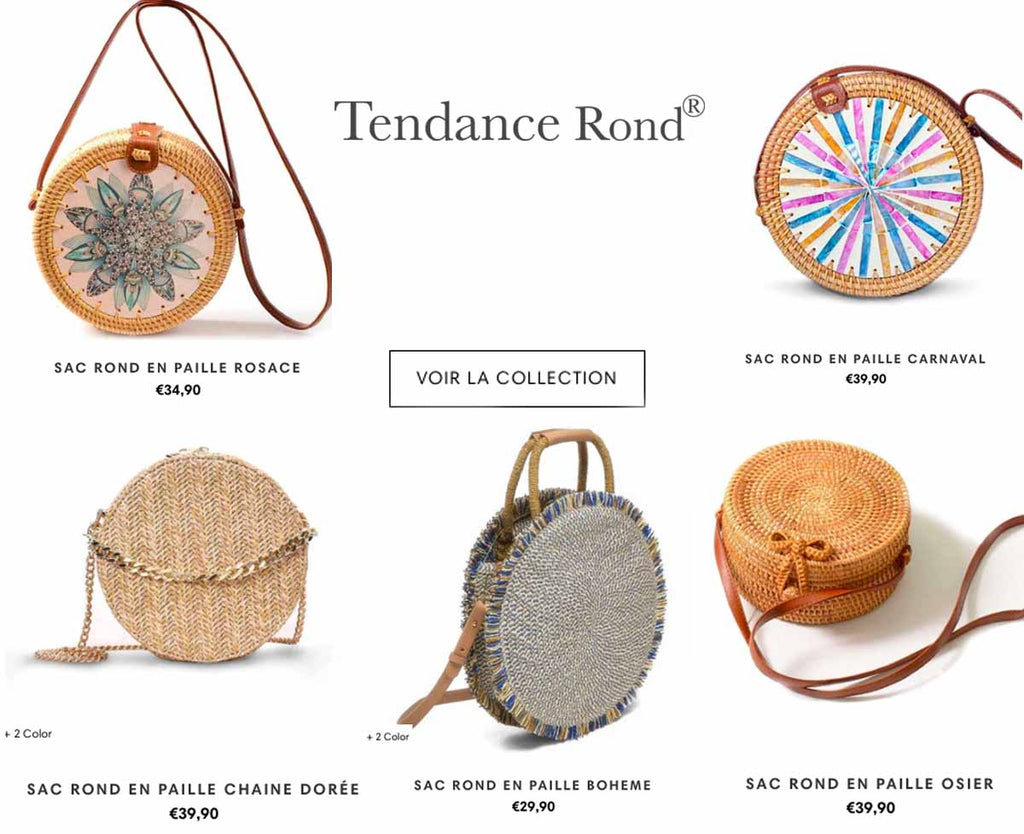 Collection Sac Rond Paille
