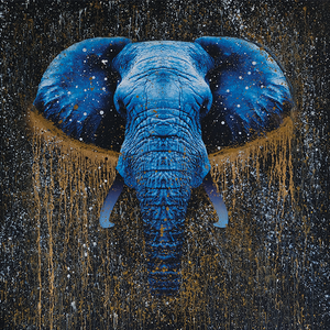 Galaxy Elephant Painting