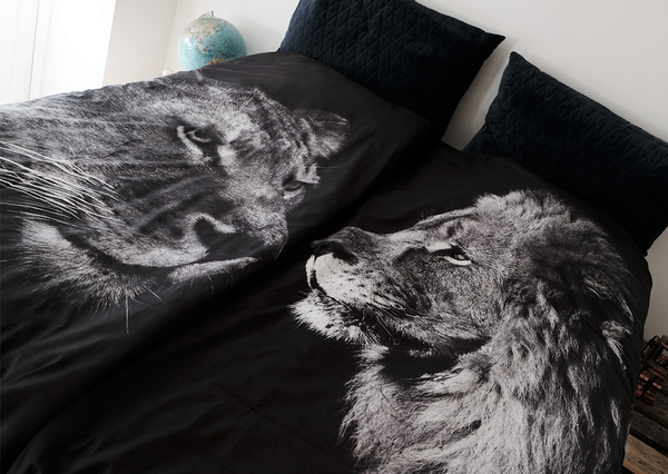 BLACK KING/LIONESS - 2 SETS DUVET