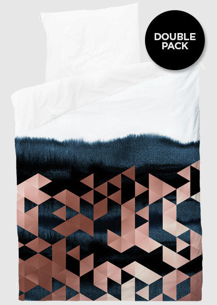 TRIANGLE WATERCOLOR - 2 SETS DUVET