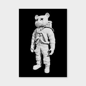 Astrobear Blackwhite Mirrored