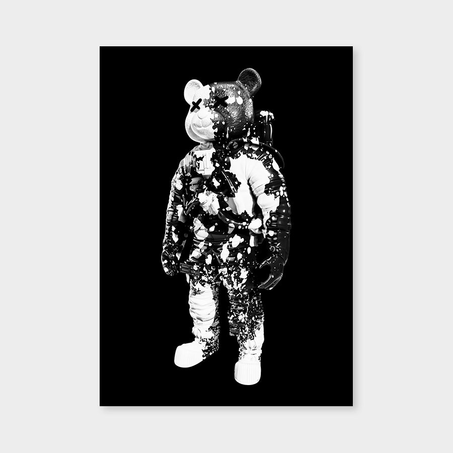 Astrobear Splash Blackwhite Mirrored