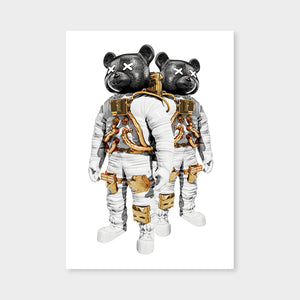 Astrobears Whitegoldblack White Mirrored
