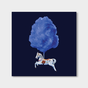 Candyfloss Horse Space Square