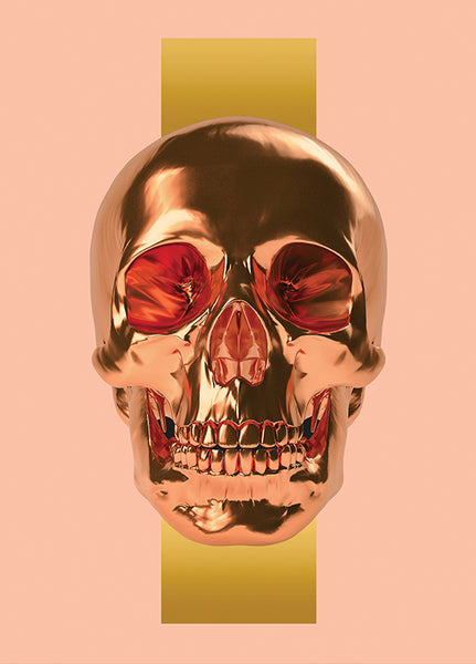 The Skull (Gold print, limited to 50 pieces)