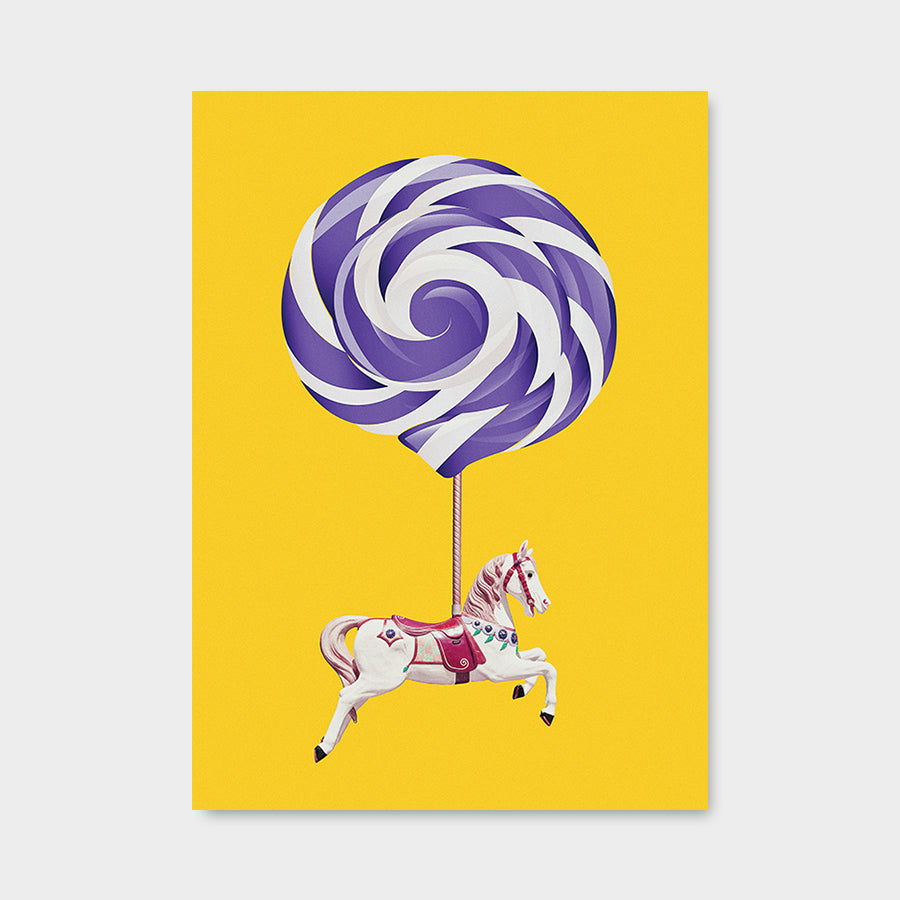 Lollipop Horse Yellowpurple