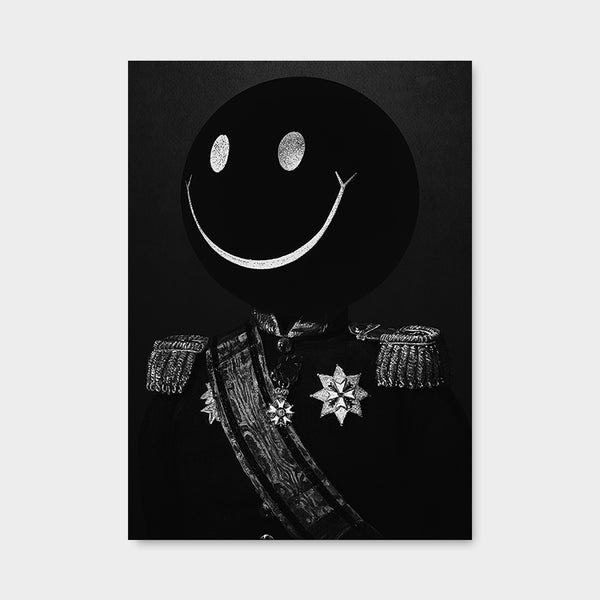 Dark Smiley BW