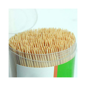 Durable Wooden Pointed Toothpick in Plastic Box