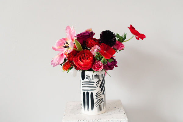 Valentine's Brushstroke TALL Arrangement