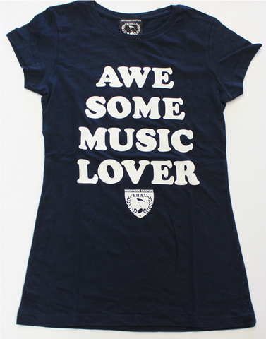 AWESOME MUSIC LOVER - MUSIC T-SHIRT DESIGN FOR WOMEN - MUSIC FASHION DESIGN