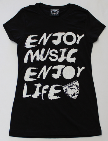 BRUSHSTROKES - MUSIC T-SHIRT DESIGN FOR WOMEN - MUSIC FASHION DESIGN