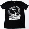 Black Music Shirt For Men - ENJOYMUSIC ENJOYLIFE Large Crest Design