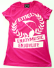 women's music t-shirt -with EMLE crest logo