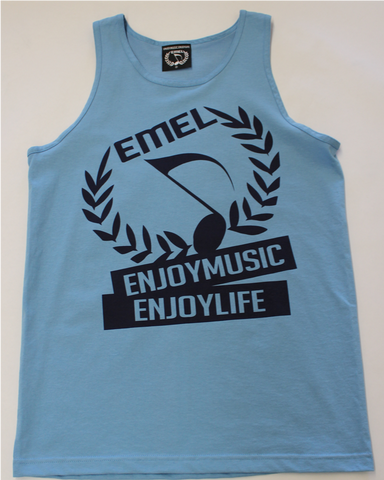MUSIC TANK TOP T-SHIRT MEN - MUSIC CREST SYMBOL - MUSIC FASHION