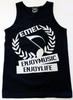 Navy Blue Tank Top Shirt For Men - ENJOYMUSIC ENJOYLIFE Crest Design